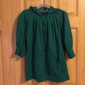 MARC BY MARC JACOB OVERSIZED HOODED BLOUSE SIZE M